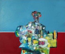 ''L'APERO'' mix medium 40'' x 48'' Pierre Paul Huot