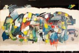 Acid Rain, oil on canvas by Pierre Huot