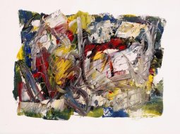 Number 3, oil on paper by Pierre Huot