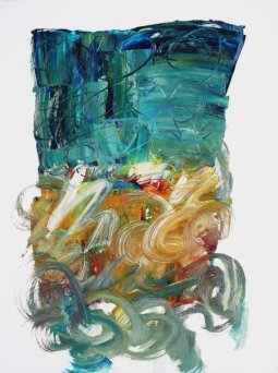 Top Hat, oil on paper by Pierre Huot