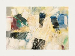 Turquoise, oil on paper by Pierre Huot (SOLD)
