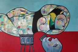HOMMGE AUX MODÈLES oil on canvas 24'' x 36'' PHuot