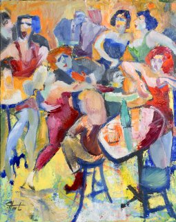 Jovial oil on canvas by Pierre Huot