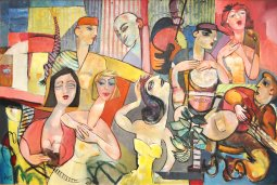 The Party oil  on canvas by Pierre Huot