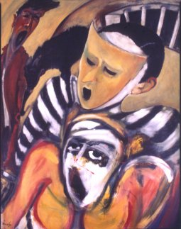 Violence-Just Society oil on canvas by Pierre Huot