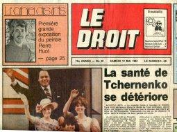 Le Droit: Première de Pierre Huot