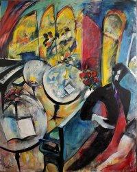 '' Le Départ'' oil on canvas 60''x 48'' P Huot