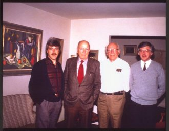 Pierre Huot - Jack Shadbolt - Henri Masson - art collector Claude Bouchard